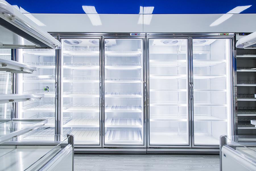 玻璃门后补式冷库